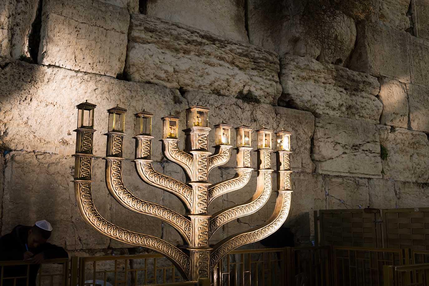בר מצווה בכותל -מנורת המקדש