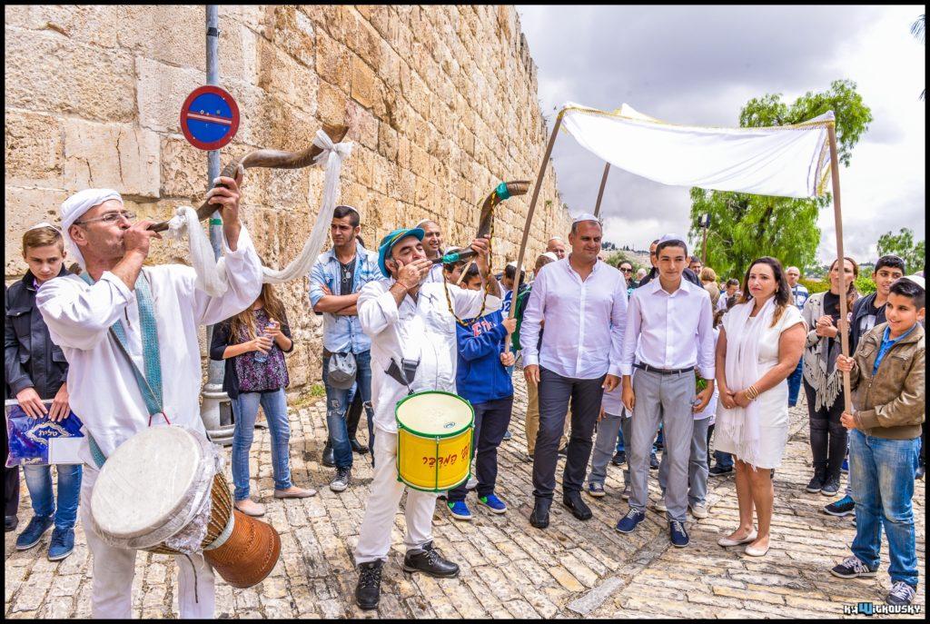 תהלוכת נגנים לבר מצווה